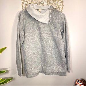 Michael Kors Button Neck Sweatshirt S Small Gray